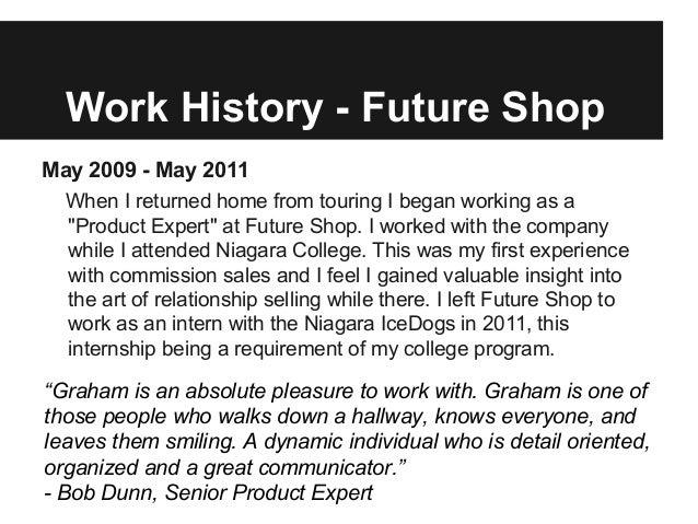 Future shop resume