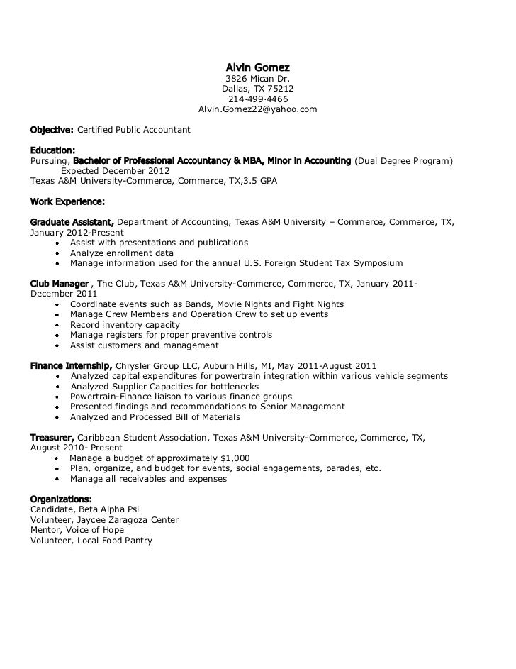 accounting mba on resumes april onthemarch co