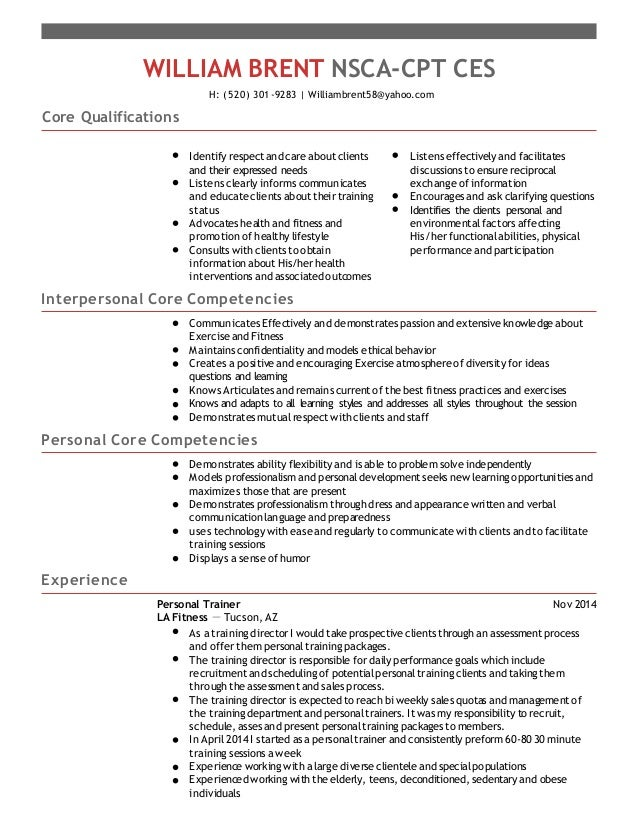 strength and conditioning templates - resume 1