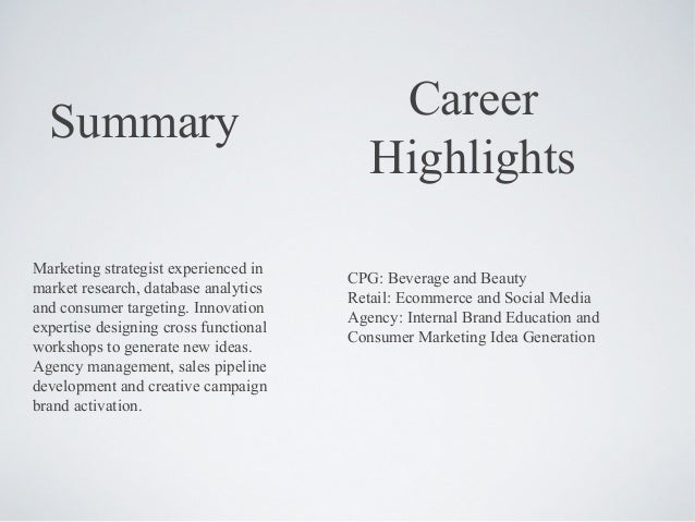 MBA Retail Marketing Resume