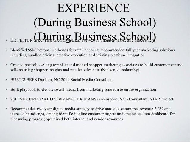 Mba Retail Marketing Resume