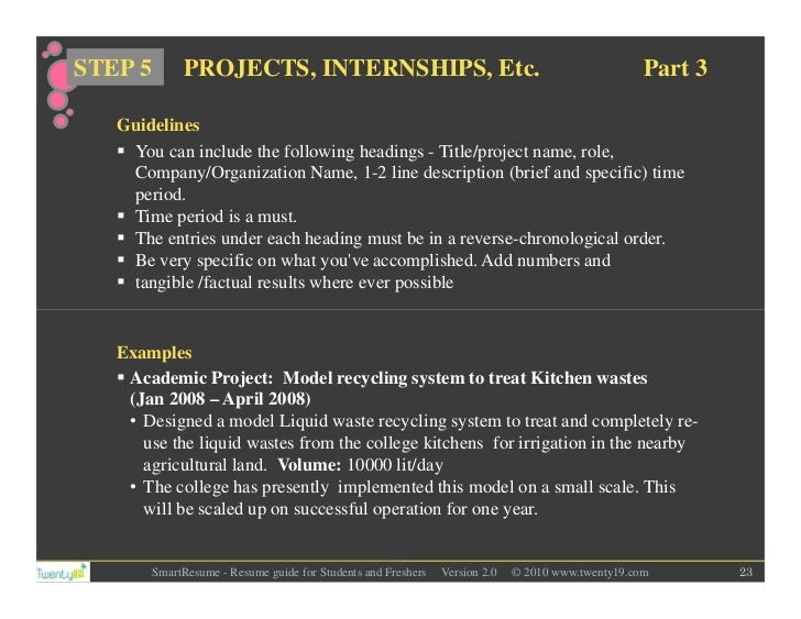 SlideShare  What To Include In A College Resume