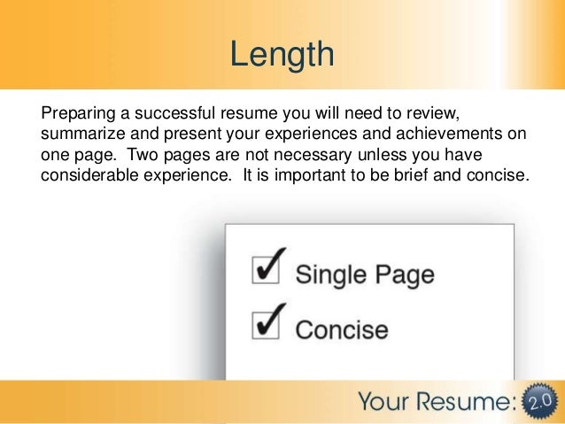 resume length one page or two