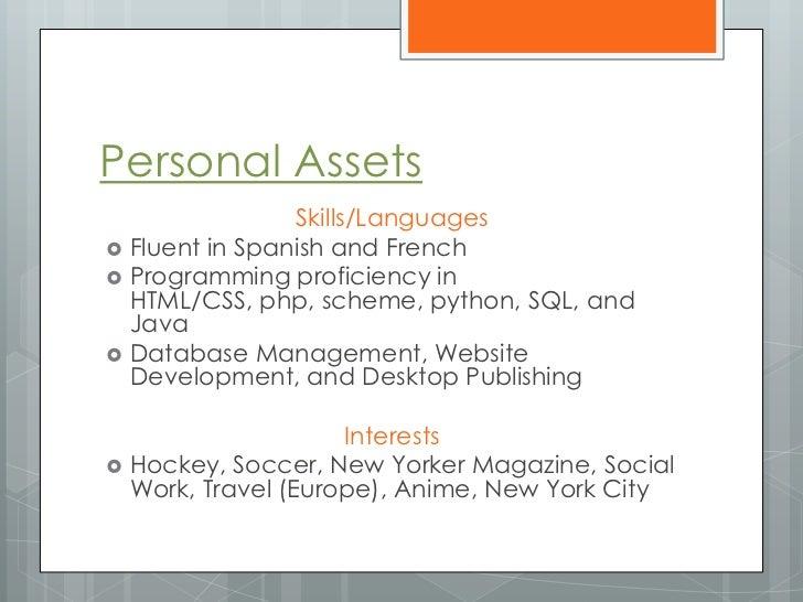Proficiency in spanish on resume