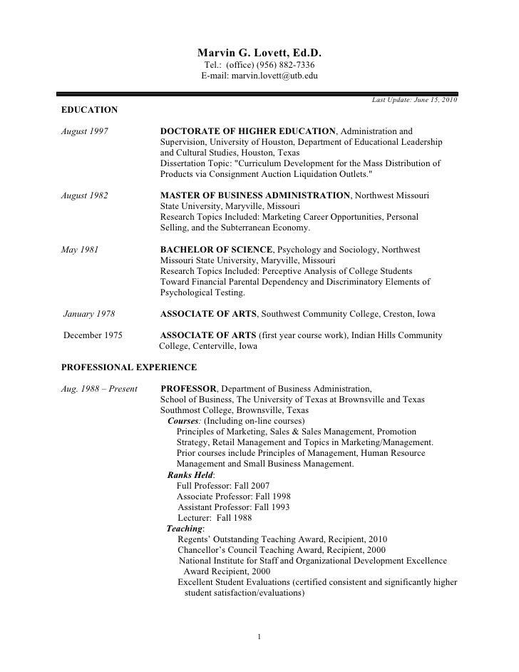 Marvin G. Lovett, Ed.D.                                   Tel.: (office) (956) 882-7336                                  E...