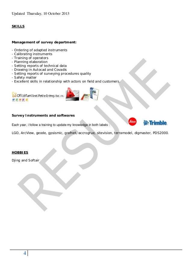 LAND SURVEYOR Resume 2013 legat
