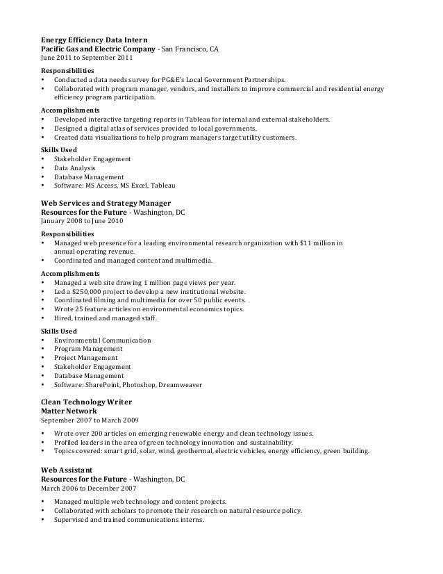 Resume - Scott P Salyer - Energy Efficiency, Waste and Sustainability…