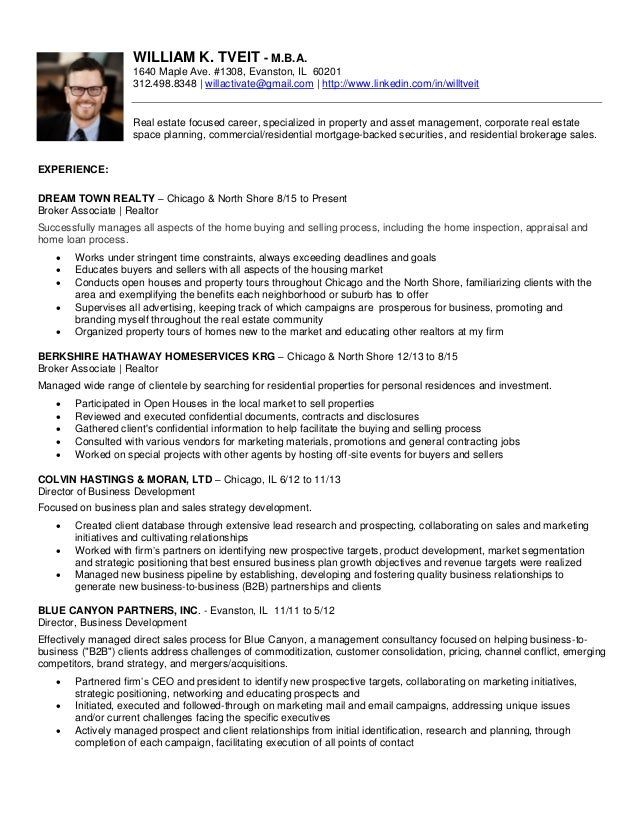 resume 2017 william k tveit mba