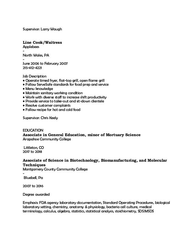 resolve customer complaints 4 - Resume For Mortuary Science