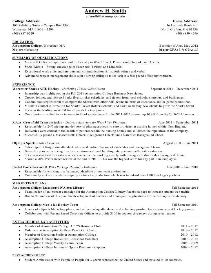 Andrew Smith Resume