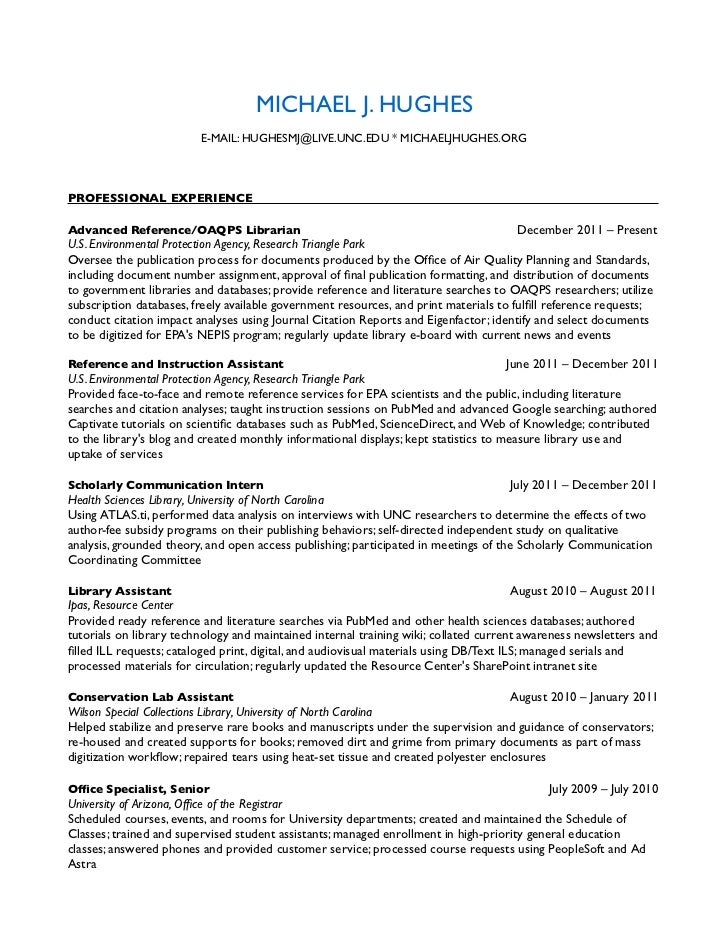 resume february 2012