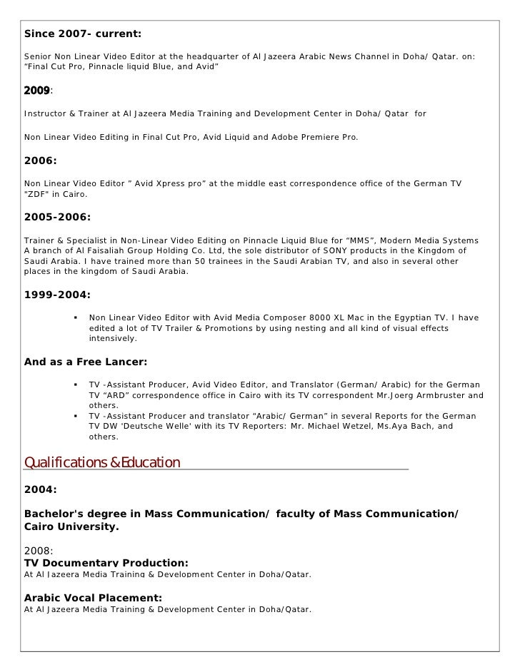 resume ahmad okbelbab