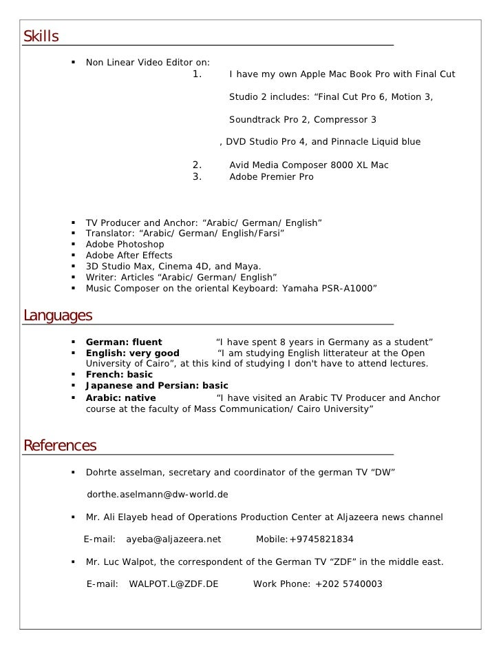 Fcp Editor Resume Sample Resume Ixiplay Free Resume Samples