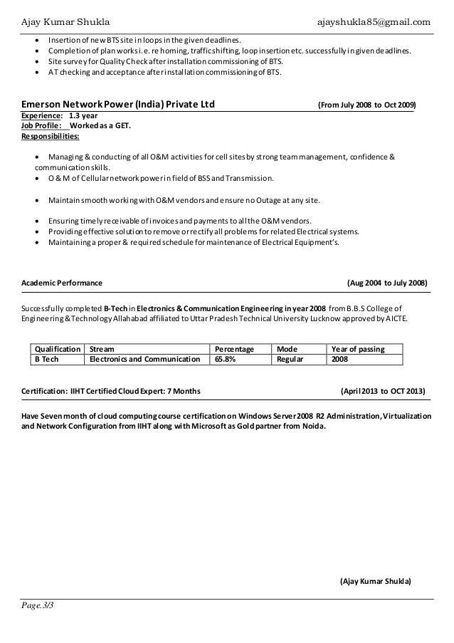 Resume Ajay Shukla Windows Server Vmware Admin