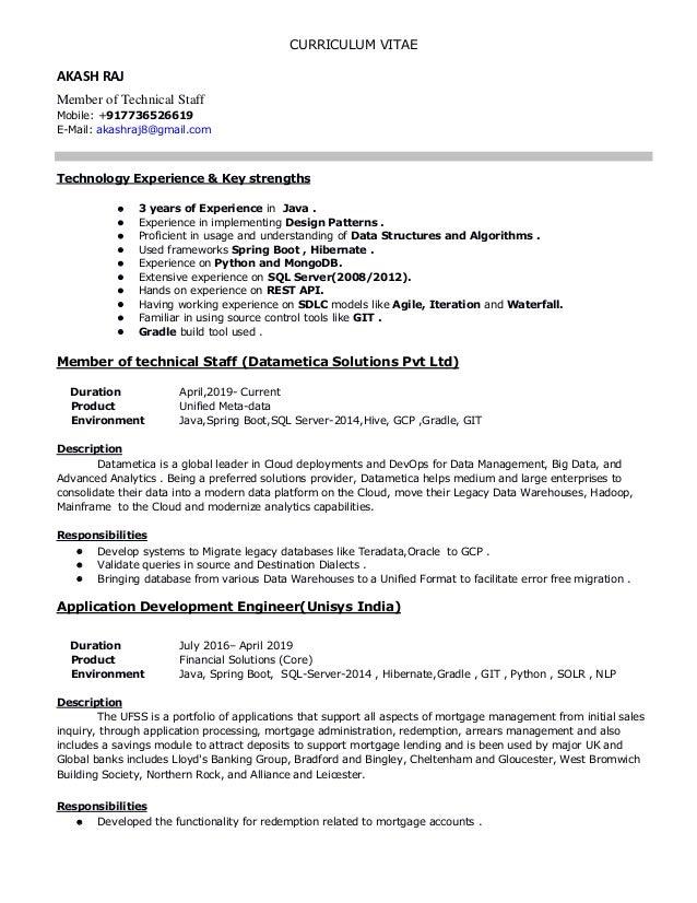 Java Developer Resume Akash Raj
