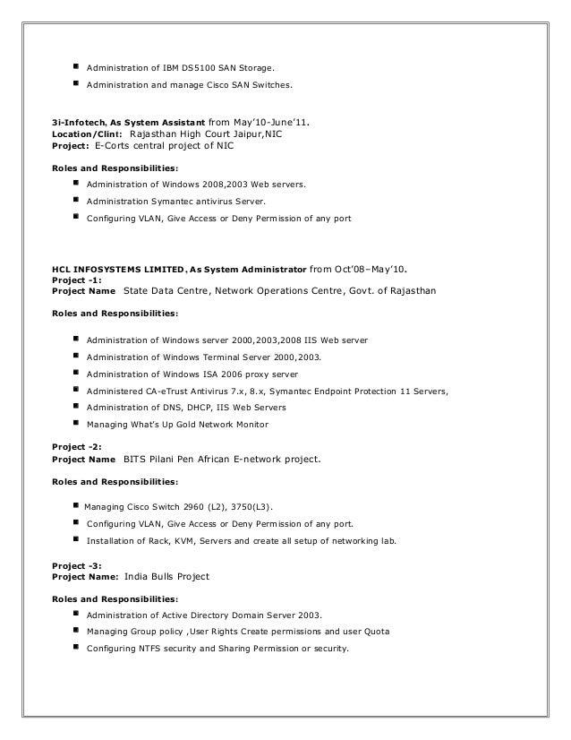 Resume Akash Storage Admin .