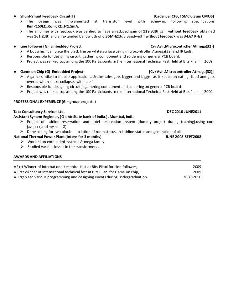 analog resume
