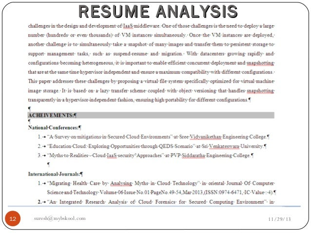 free resume analysis 28 images resume analysis live 29