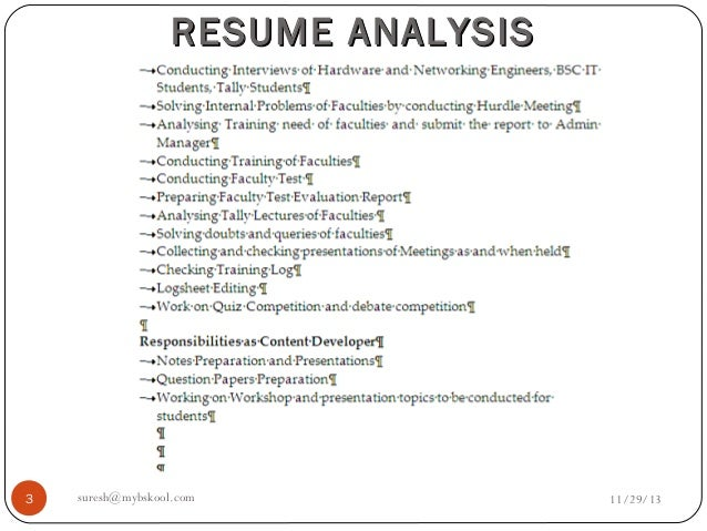 resume analysis final live 29 11 13 online mini mba free