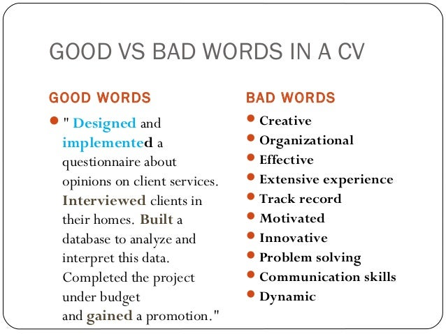 Sample Bad Resume