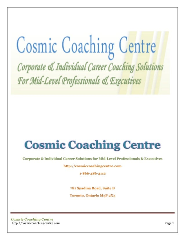 Cosmic Coaching Centre       Corporate & Individual Career Solutions for Mid-Level Professionals & ExecutivesCosmic Coachi...