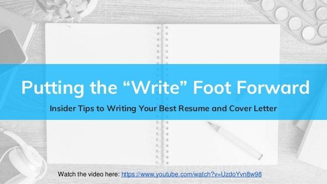 Resume And Cover Letter Webinar