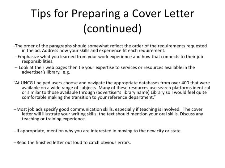 and cover letter writing workshop
