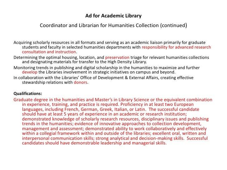 Sample Librarian Resume Cover Letter