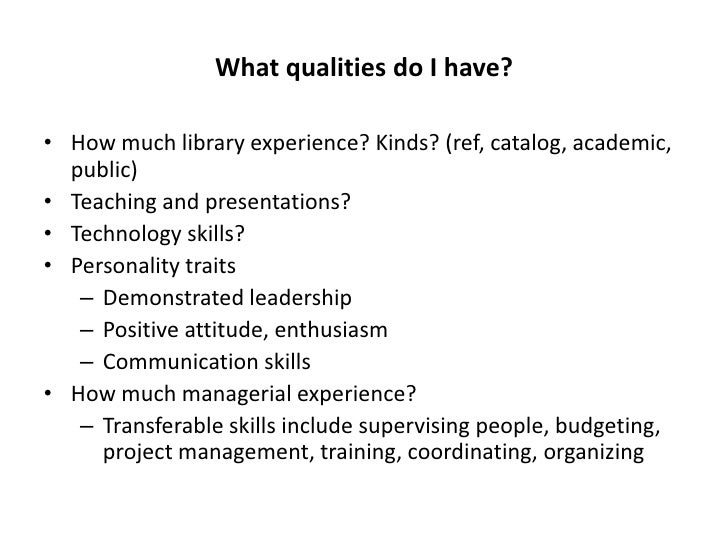 Resume Attributes Examples Skills And Abilities