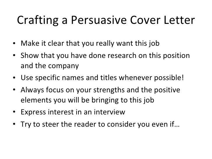 persuasive cover letters
