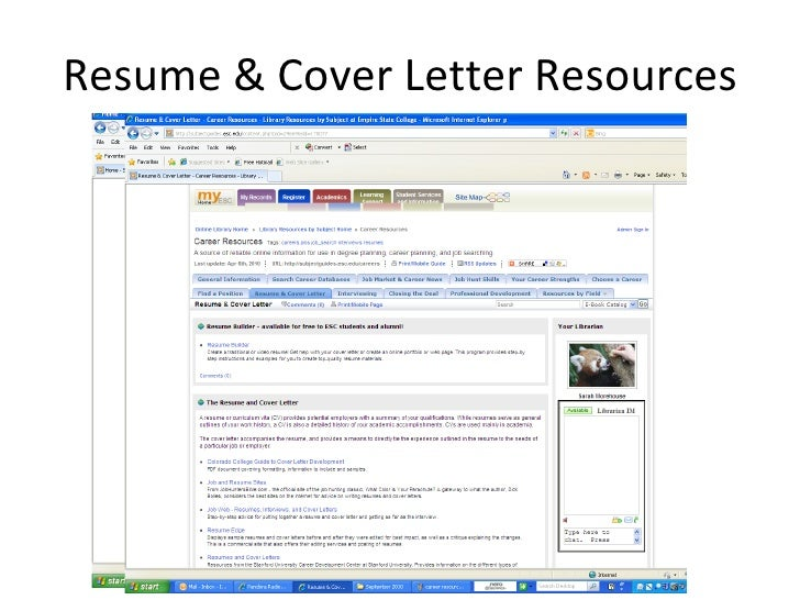 Resumes, CVs, Cover Letters, Office of Career Services
