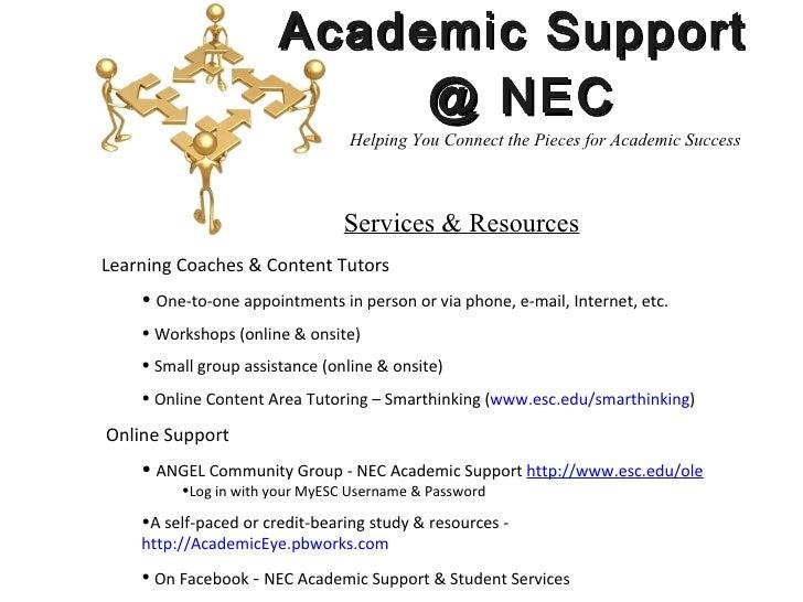Wonderful Academic Support ... Nice Ideas