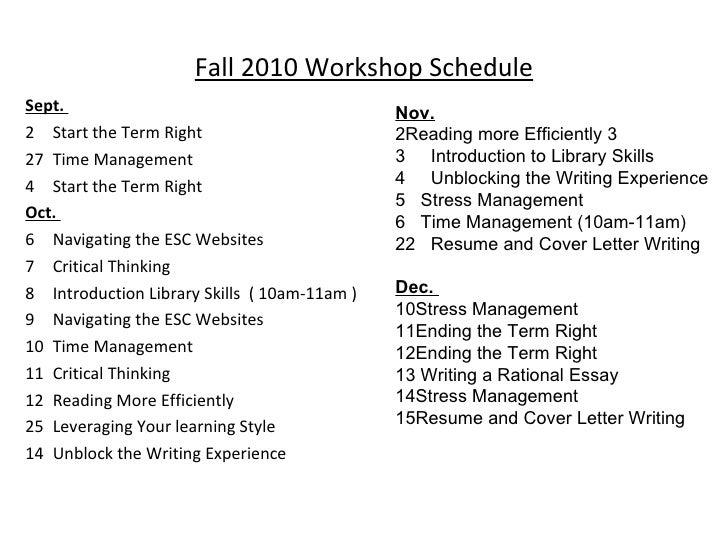 cover letter for attending workshop