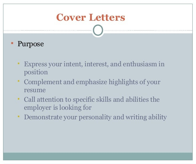Resume and cover letter 101