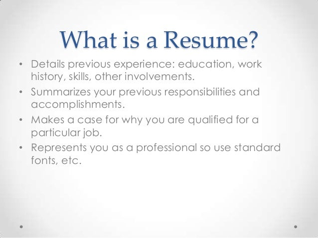 what is a resumes