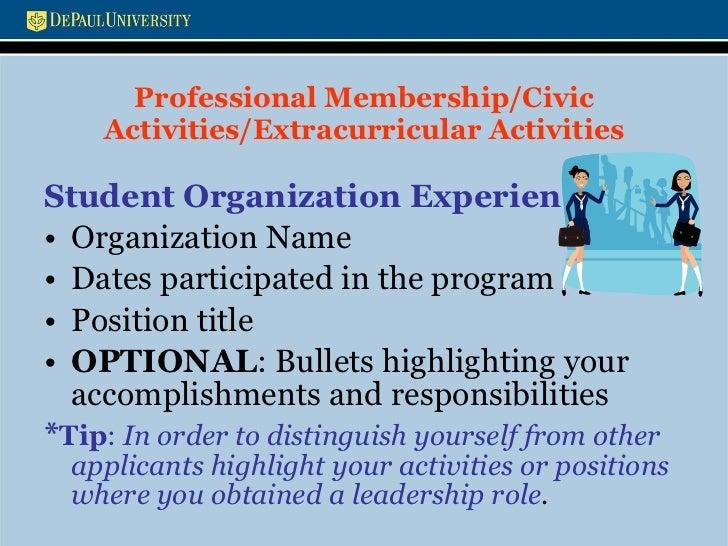 resume and cover letters workshop presentation