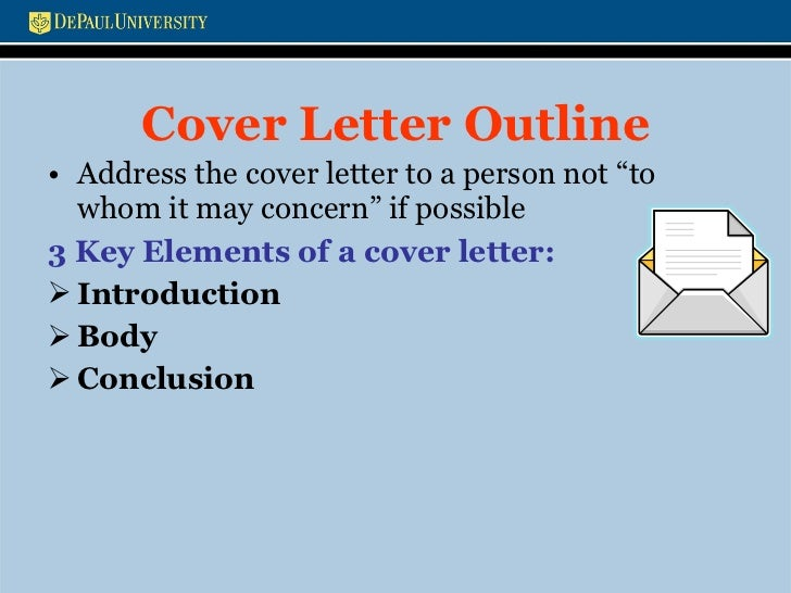 elements of a cover letter