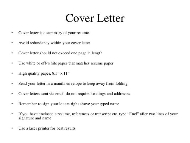 cover letter via email tips