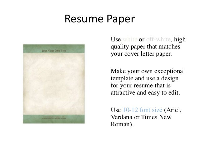 Resume Paper ...  Paper For Resume