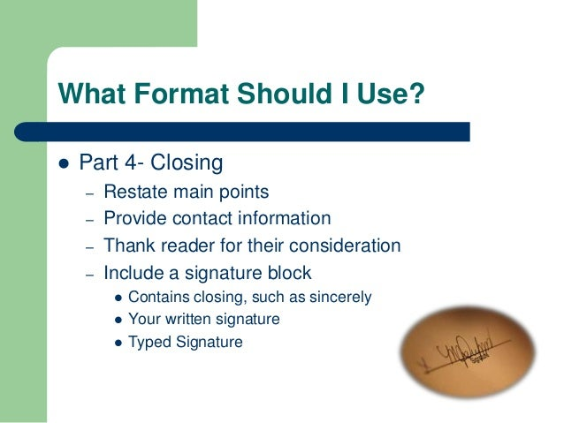 what format should - What Should A Resume Cover Letter Contain