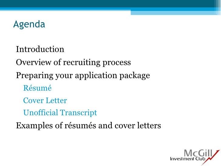 Resume And Cover Letter Workshop Sept 2009