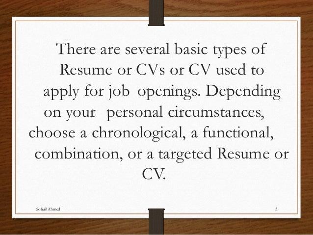 Resume and cv writing by sohail ahmed solangi Slide 3