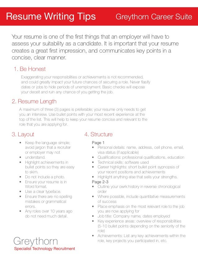Greythorn Career Suite Resume U0026 Interview Tips; 2.  Unemployment Resume