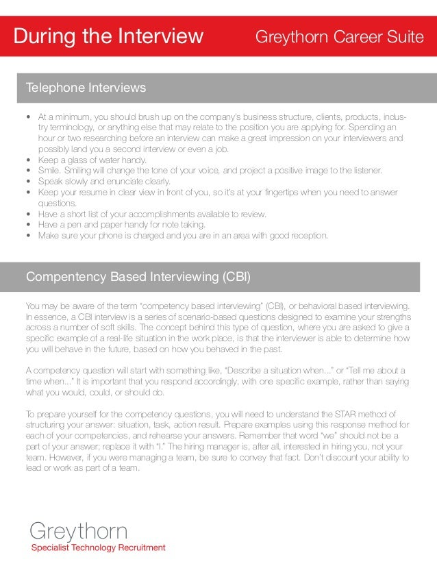 Greythorn Resume and Interview Tips