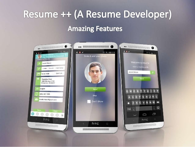 Resume ++ (A Resume Developer) Android App - Amazing Features