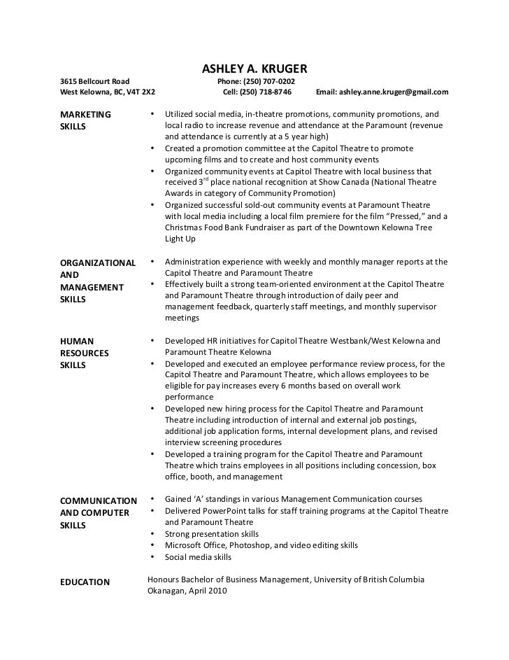 Ashley Kruger Resume