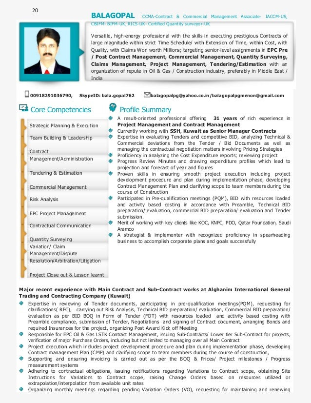 Attractive 20 Core Competencies Profile Summary A Result Oriented Professional  Offering 31 Years Of Rich Experience ...