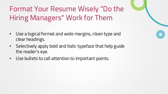 3 format your resume