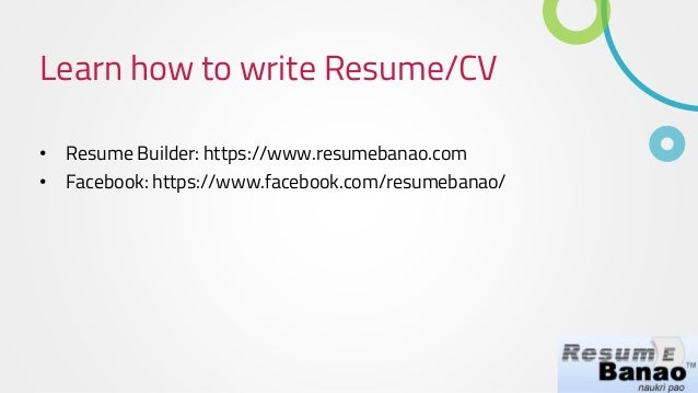 how to write a resume free