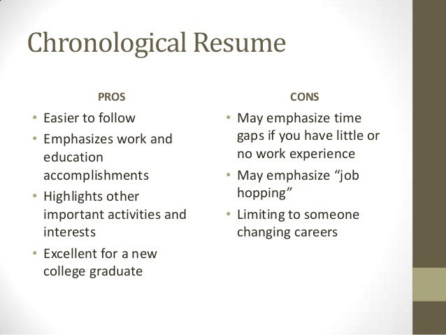 format chronological functional 10 chronological resume
